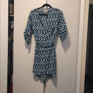 Anthropologie Button Down Print Dress